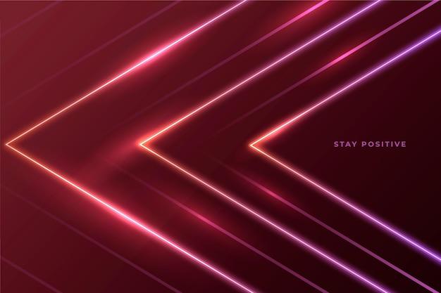 Abstract neon lights background Premium Vector