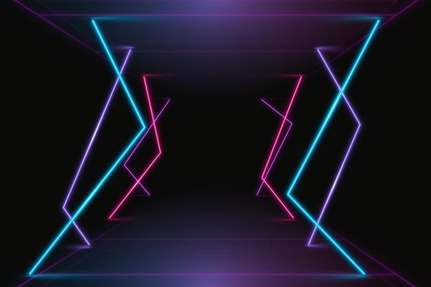 Sfondo astratto luci al neon Vettore gratuito