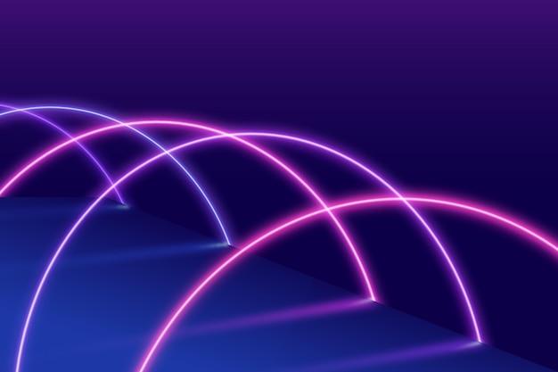 추상 네온 불빛 벽지 디자인 무료 벡터