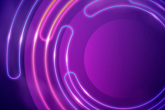 Abstract neon lights wallpaper design Free Vector