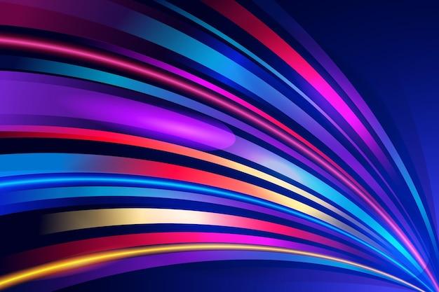 Abstract neon lights wallpaper Premium Vector