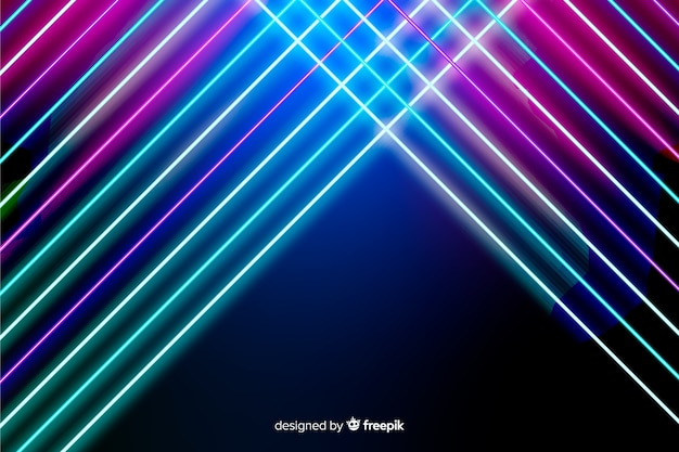 Abstract neon lines background | Free Vector