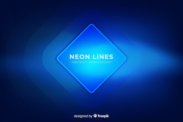 Abstract neon lines background Free Vector