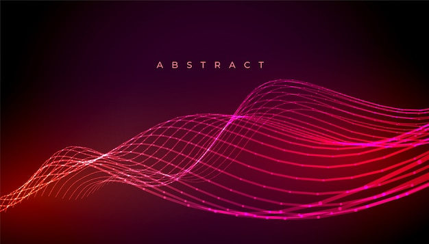 Abstract neon stylish wave lines background design Free Vector