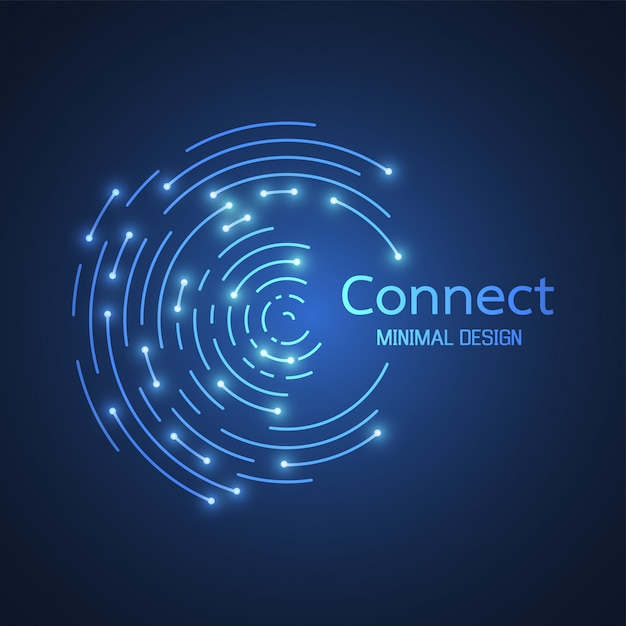 Abstract network connection. icon logo design. vector illustration Premium Vector