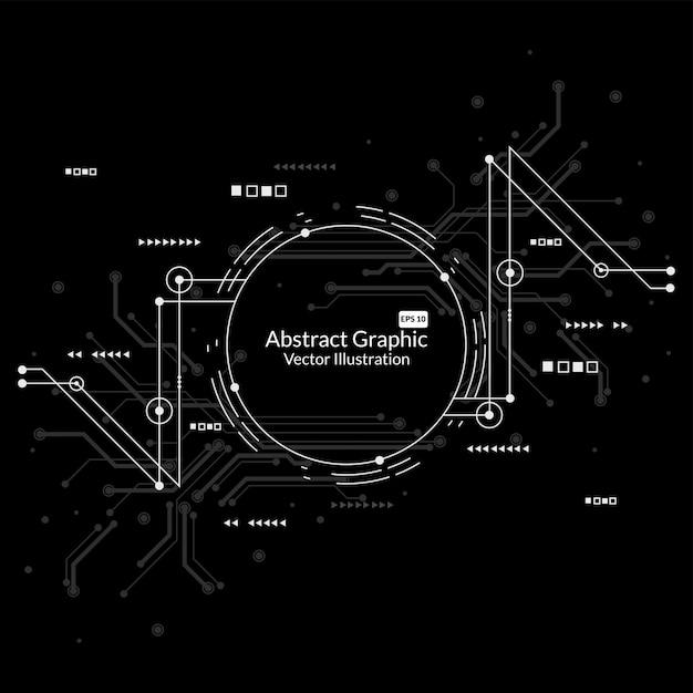 Abstract network connection technology background Premium Vector