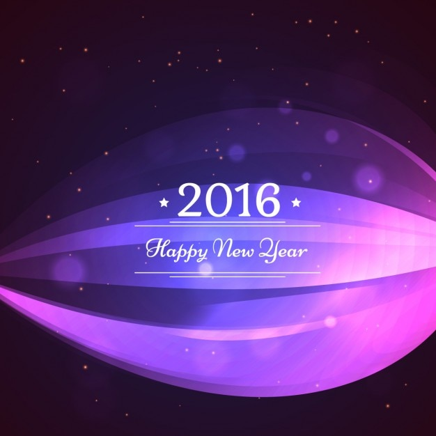 abstract new year 2016 background in purple color free vector