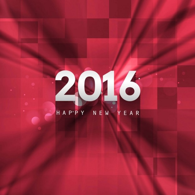 Abstract new year 2016 background in red color