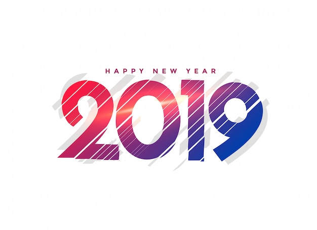 Abstract new year 2019 creative lettering Free Vector
