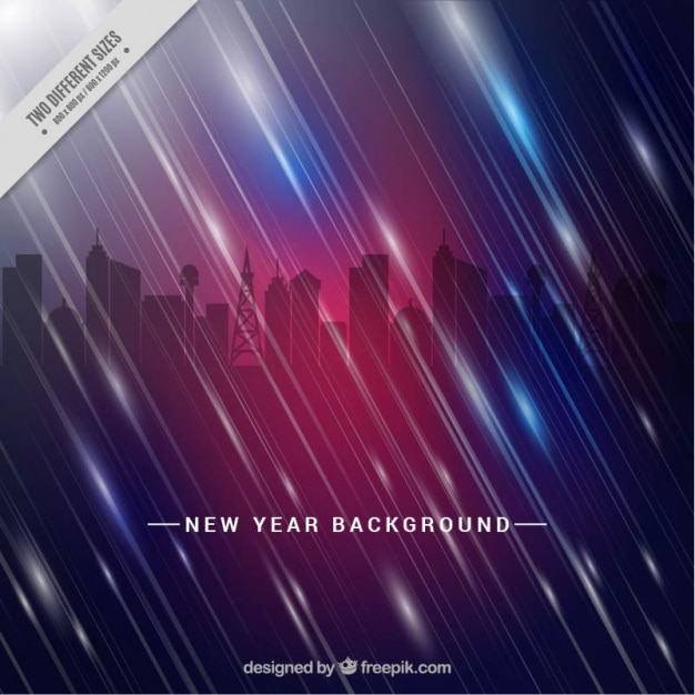 abstract new year background of city