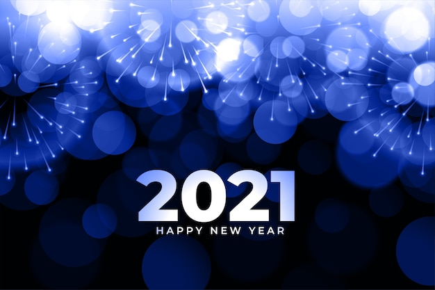 Abstract  new year background with fireworks Free Vector