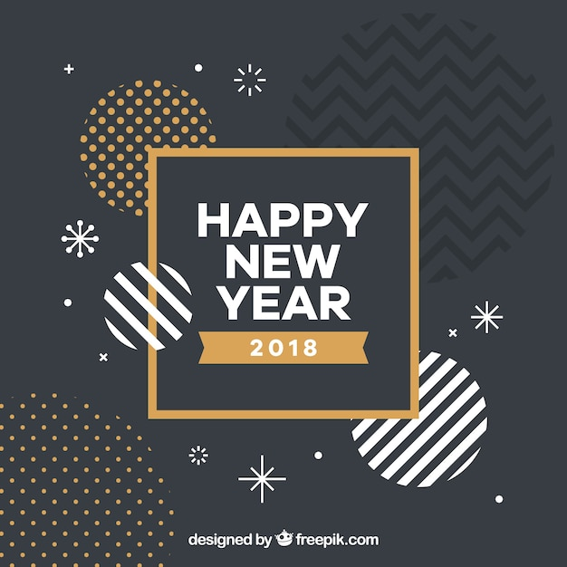 Abstract new year shapes background Free Vector