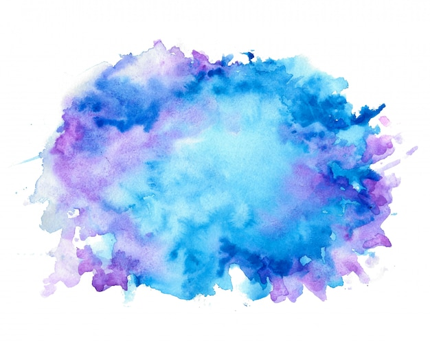 Abstract nice blue shades watercolor texture background Free Vector