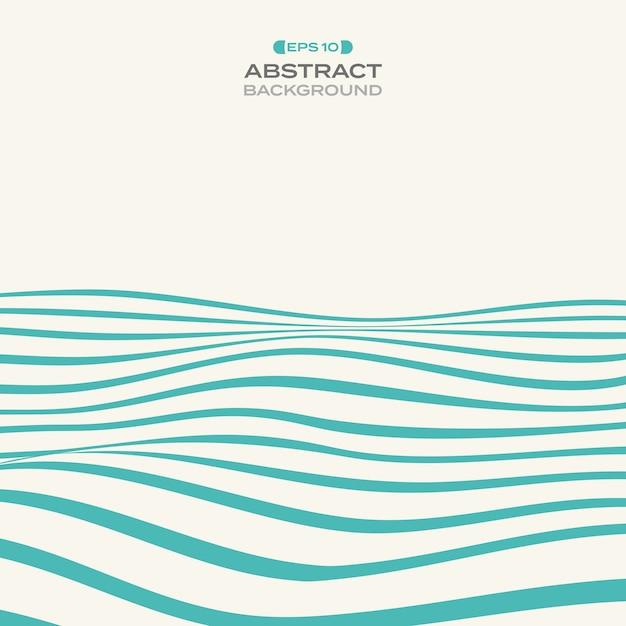 Abstract of blue stripe line wavy pattern background. Premium Vector