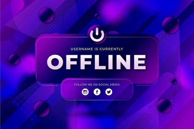 Abstract offline twitch banner Premium Vector