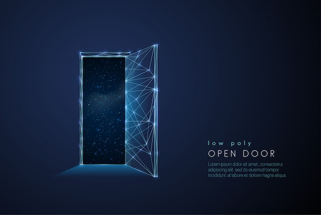 Abstract open door to universe Premium Vector