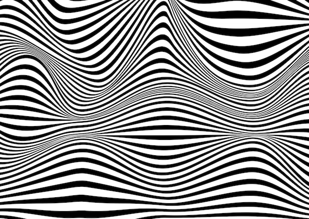 Abstract optical illusion background Free Vector