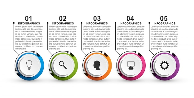 Abstract options infographics template for presentations. Premium Vector