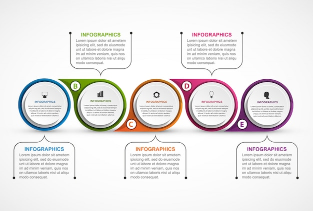 Abstract options infographics template. Premium Vector