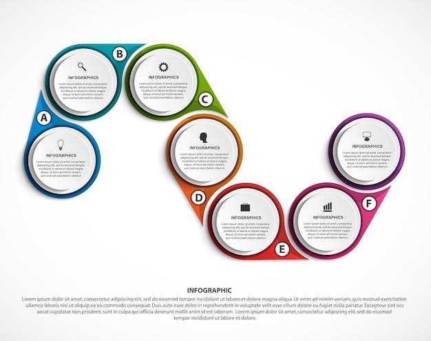 抽象的なオプションのインフォグラフィックテンプレート Premiumベクター