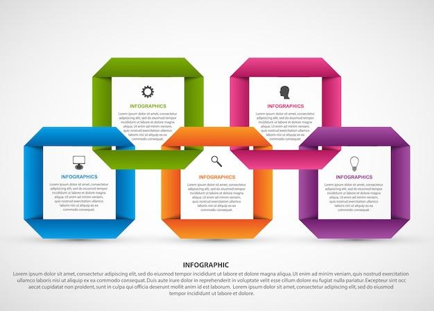 抽象的なオプションのインフォグラフィックテンプレート。 Premiumベクター