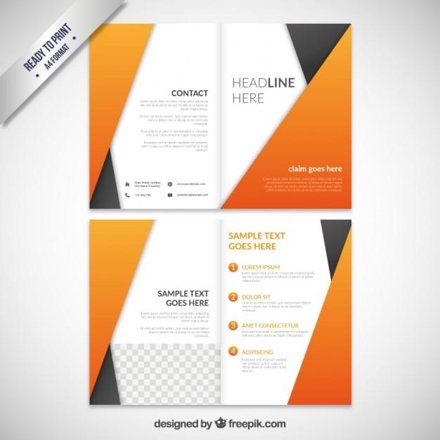 Abstract orange brochure Free Vector
