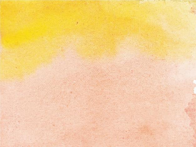 抽象的なオレンジブラウンの水彩画の背景。手描きです。 Premiumベクター