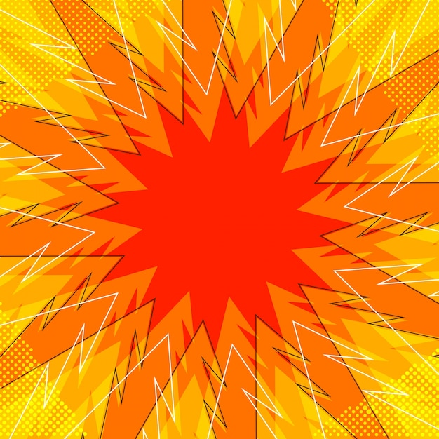 abstract orange comic book background vector free download