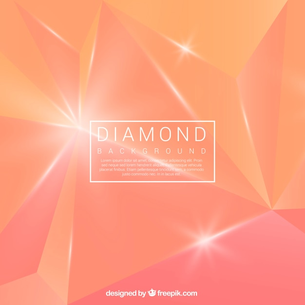 Abstract orange diamond background Vector | Free Download