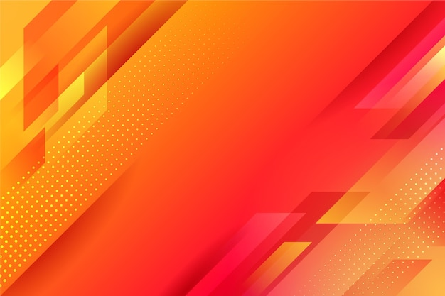 Abstract orange geometrical background Premium Vector
