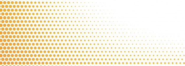 Abstract orange halftone banner Free Vector