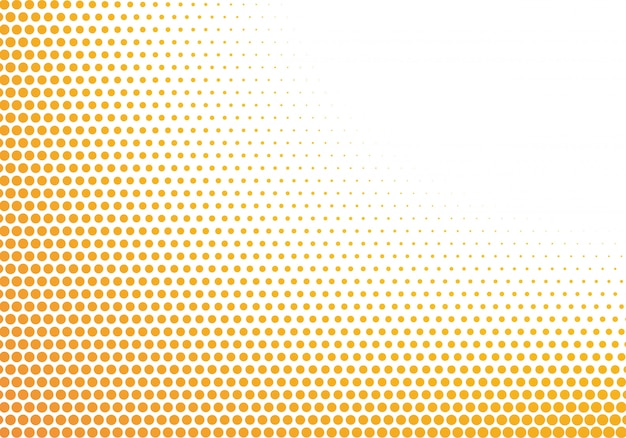 Abstract orange and white dotted background Free Vector