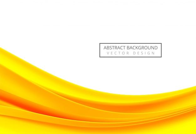 Onda scorrente arancio e gialla astratta su fondo bianco Vettore gratuito