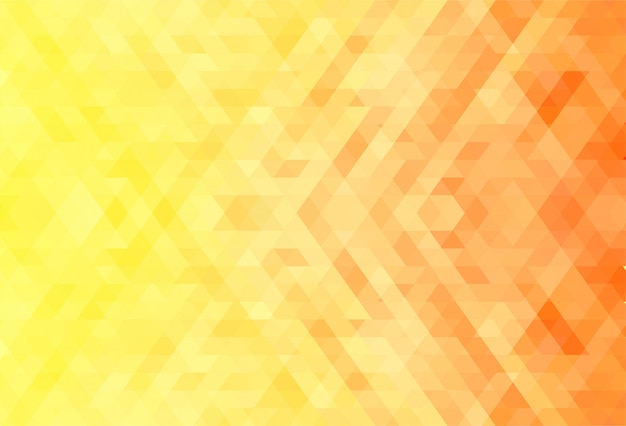 Abstract orange and yellow geometric shapes background Free Vector