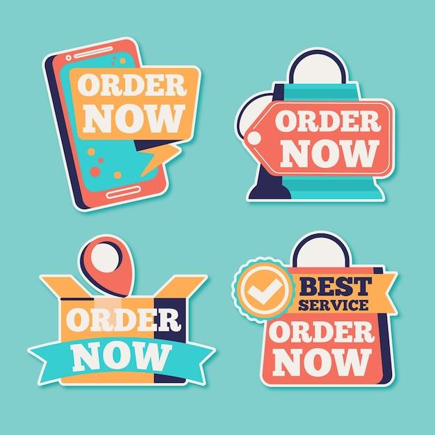 Ordine astratto ora adesivi Vettore gratuito