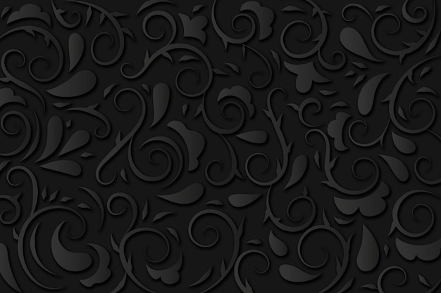 Abstract ornamental floral background Free Vector
