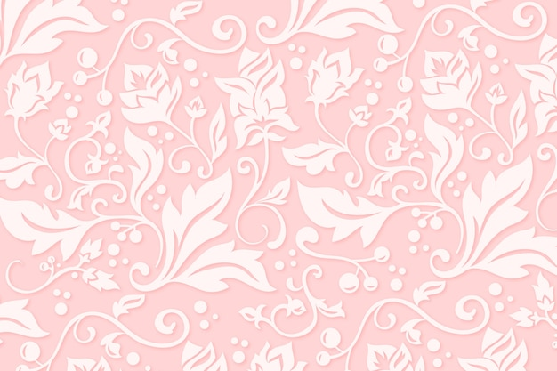 Abstract ornamental flowers background Free Vector