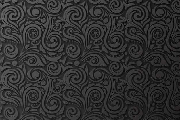 Абстрактные декоративные цветы фон Premium векторы