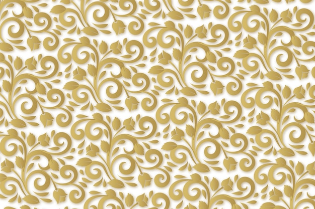 Abstract ornamental flowers wallpaper Free Vector