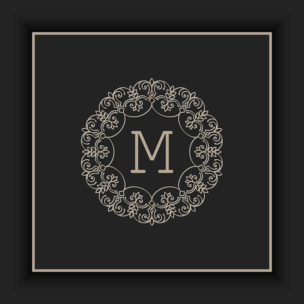 Abstract ornamental monogram illustration Free Vector