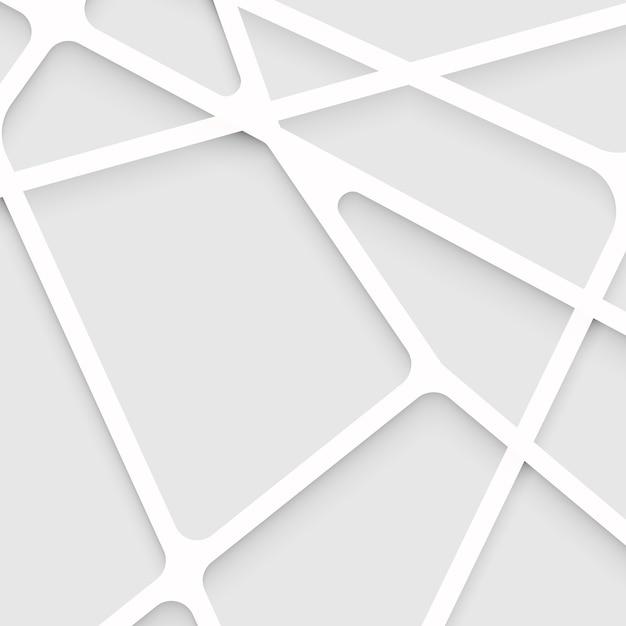 抽象的な重なり合う形状と線背景 Premiumベクター