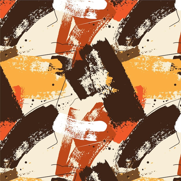 Abstract paint brush strokes pattern Free Vector