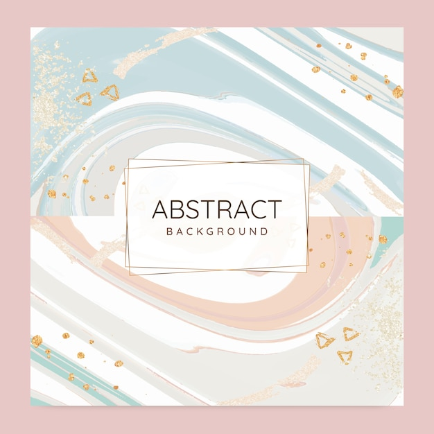 Abstract paint pour background vector set Free Vector