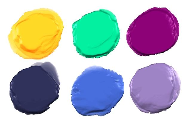 Набор абстрактных красок Бесплатные векторы