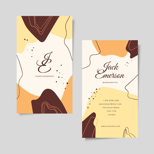 Abstract painted business card concept Free Vector