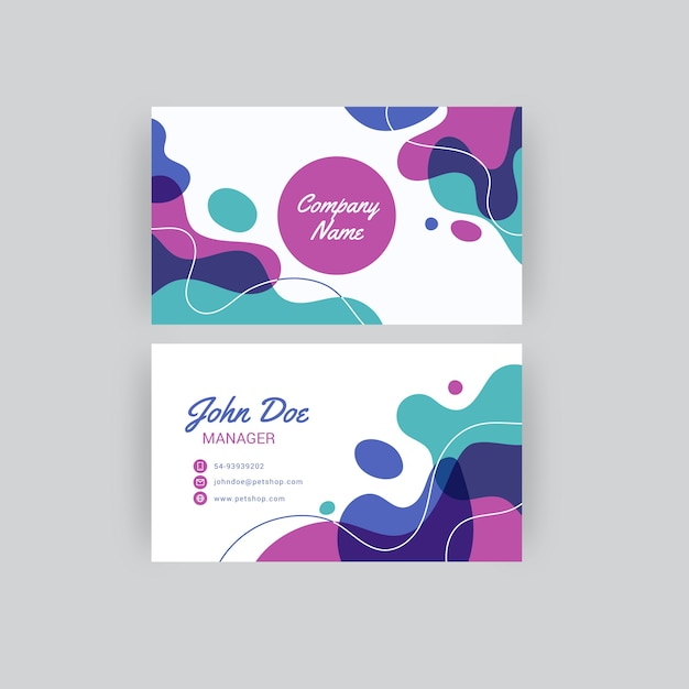 Abstract painted business card Free Vector