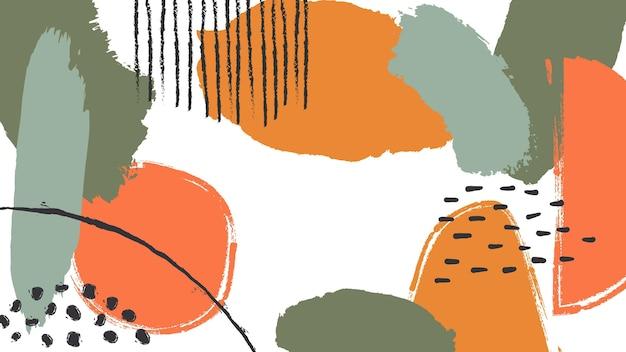 抽象的な塗られた壁紙 無料ベクター