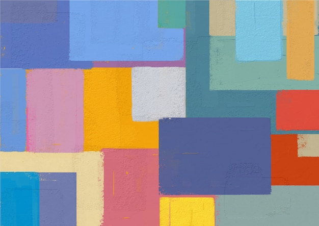 Abstract Painting Colorful Squares Shape Vector Premium