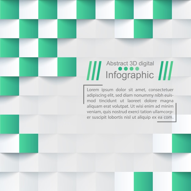 Abstract paper background - origami template. Premium Vector
