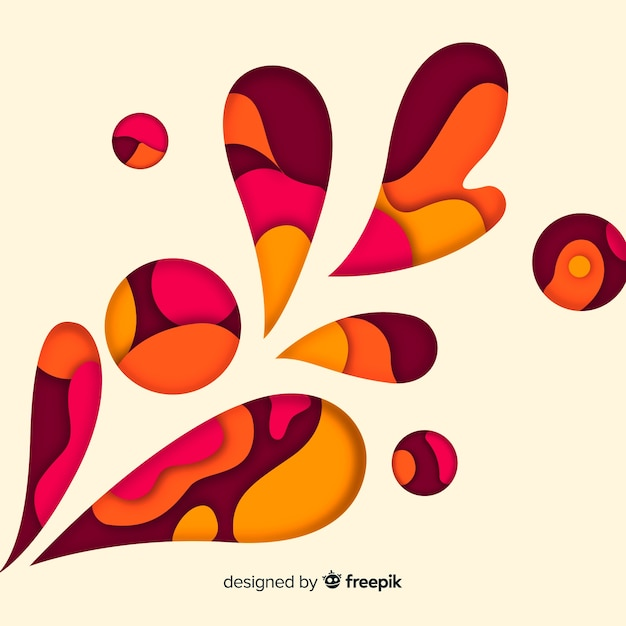 Abstract paper background Free Vector